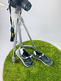 Жіночі кросівки в стилі New Balance 574 сірі з білим, фото 5