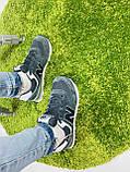 Жіночі кросівки в стилі New Balance 574 сірі з білим, фото 6