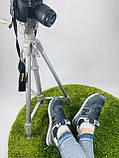 Жіночі кросівки в стилі New Balance 574 сірі з білим, фото 7