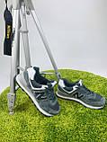 Жіночі кросівки в стилі New Balance 574 сірі з білим, фото 10