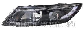 Фара левая электро D1S+H7+LED (одна линза, белая вставка) для Kia Optima 2013-16