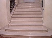 Лестница из натурального мрамора Кремо Марфил (Cremo Marfil)