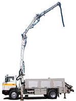 Аренда автобетононасоса (90-180 м3/год), длина автострелы - 16м. Мин. заказ: 2 часа работы + монтаж, демонтаж. Последующий час - 750 грн.