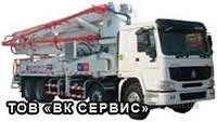 Аренда автобетононасоса (90-180 м3/год), длина автострелы - 42м. Мин. заказ: 2 часа работы.