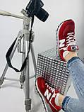 Жіночі кросівки в стилі New Balance 574 червоні, фото 3