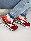 Жіночі кросівки в стилі New Balance 574 червоні, фото 4