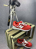 Жіночі кросівки в стилі New Balance 574 червоні, фото 5