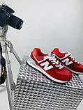 Жіночі кросівки в стилі New Balance 574 червоні, фото 6