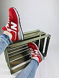 Жіночі кросівки в стилі New Balance 574 червоні, фото 7