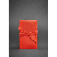 Женский кожаный блокнот (Софт-бук) 1.0 коралловый