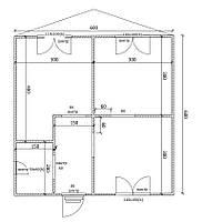 Будинок 6м х 6м