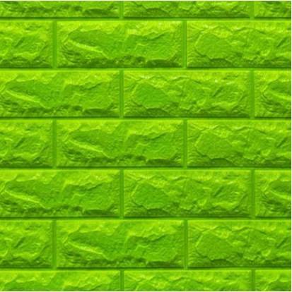 Мягкие 3D панели 700x770x7мм (самоклейка) Зеленый Кирпич
