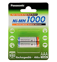 Аккумулятор Panasonic High Capacity AAA 1000 mAh 2BP (NI-MH)
