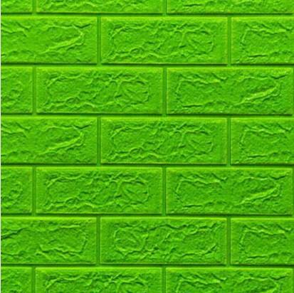 Мягкие 3D панели 700x770x5мм (самоклейка) Зеленый Кирпич