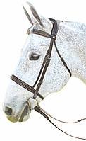 Уздечка с лакировоной вставкой, для лошади, мула