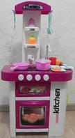 Детская игровая интерактивная кухня с посудой 889-59-60, 36 предметов, 2 цвета