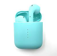 Беспроводные Bluetooth наушники HBQ v8 TWS c кейсом Power Bank Sensor Blue, КОД: 1754777