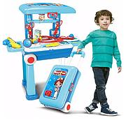 Детский Развивающий Игровой Набор Доктора на стойке-чемодане с медиц. инструментами 008-925A
