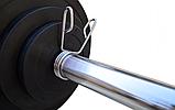 Штанга для жима обрезиненная RN-Sport 105 кг с олимпийским грифом 220 см, фото 2