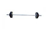 Штанга для жима обрезиненная RN-Sport 105 кг с олимпийским грифом 220 см, фото 4
