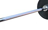 Штанга для жима обрезиненная RN-Sport 105 кг с олимпийским грифом 220 см, фото 5