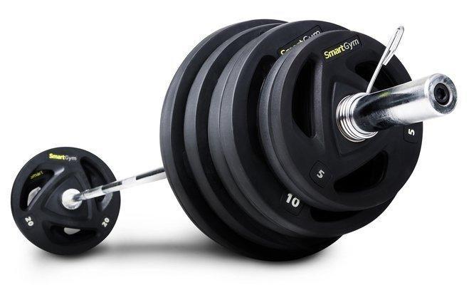 Штанга обрезиненная SmartGym 115 кг с грифом 220 см - 50 мм
