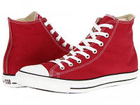 Красные высокие мужские кеды Converse (Конверс) All Star