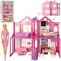 Детский домик с куклой и мебелью DEFA 8440-BF