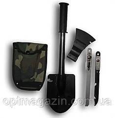 Лопатка 4 в 1 ЕРМАК. Туристическая нож, пила, лопата, топор, фото 2