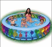 Бассейн детский надувной Intex 56480  «Цветной водоворот»