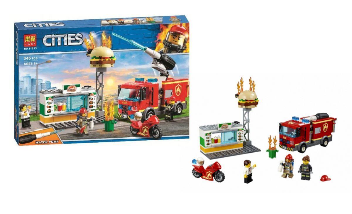 """Конструктор 11213 (24) """"Пожар в закусочной"""" 345 деталей, в коробке [Коробка]"""