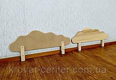 """Бортик для детской кровати из МДФ в белых оттенках от производителя """"Облако"""" 80 см., фото 3"""