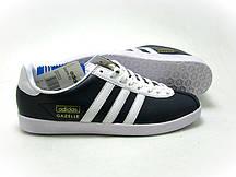 Кроссовки кожаные мужские Adidas Gazelle s синие мужские кроссовки