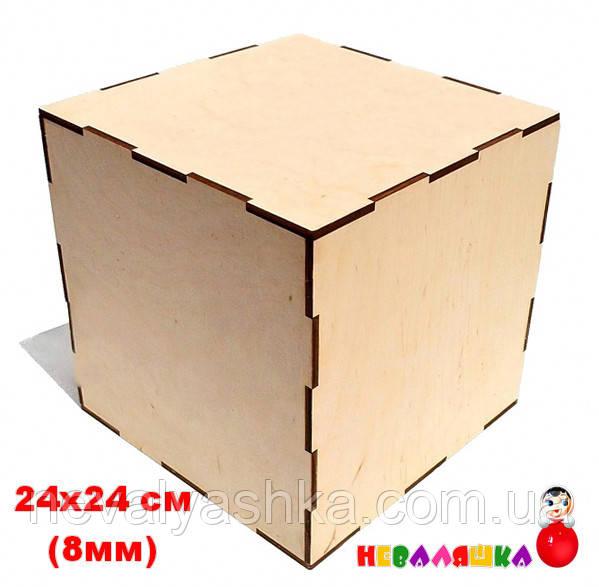 Заготовка Основа для Бизикуба БИЗИКУБ 24 х 24 см (8 мм) Бізікуб Куб Бизи из Фанеры