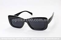 Солнцезащитные очки ДЛЯ ЗРЕНИЯ в черной пластиковой оправе, фото 1