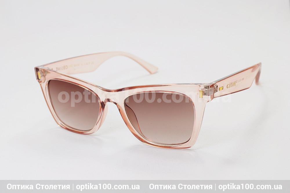 Солнцезащитные рзово-коричневые очки ДЛЯ ЗРЕНИЯ в стиле CELINE