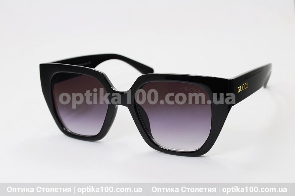 Солнцезащитные очки ДЛЯ ЗРЕНИЯ в стиле Gucci. Черная оправа