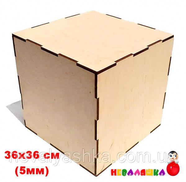 Заготовка Основа для Бизикуба БИЗИКУБ 36 х 36 см (5 мм) Бізікуб Куб Бизи из Фанеры