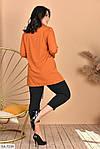 Женский костюм рубашка с лосинами (Батал), фото 2