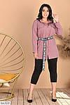 Женский костюм рубашка с лосинами (Батал), фото 4