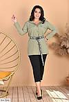 Женский костюм рубашка с лосинами (Батал), фото 5