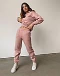 Женский спортивный однотонный костюм, фото 6