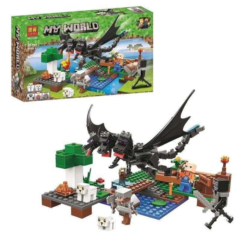 """Конструктор Bela My World 11265 (36) """"Битва с черным драконом"""" 283 детали, в коробке"""