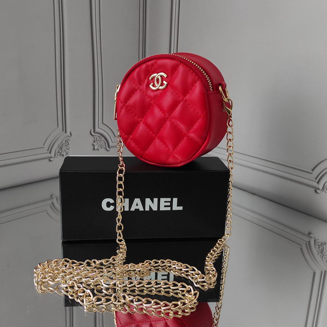 Мини кросс боди, красная сумка Chanel