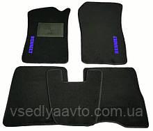 Ворсовые коврики в салон Renault Kangoo с 1998-2008 гг. (Черные)