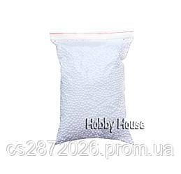 Шарики пенопластовые 2-4 мм,1000 мл, Белые, для слаймов и декора.