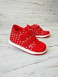 Ботинки для девочек, красные 23р. по стельке 14,0 см, фото 4