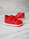 Ботинки для девочек, красные 23р. по стельке 14,0 см, фото 5