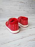 Ботинки для девочек, красные 23р. по стельке 14,0 см, фото 6