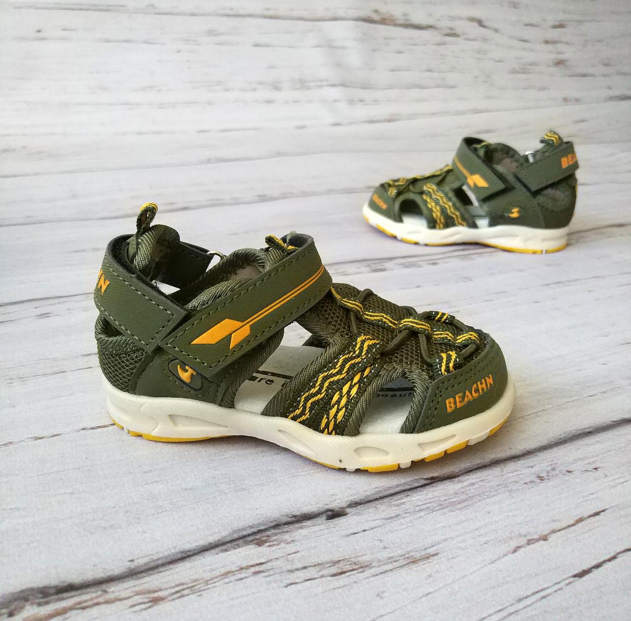 Обувь для мальчиков, босоножки хаки JongGolf 23 разме